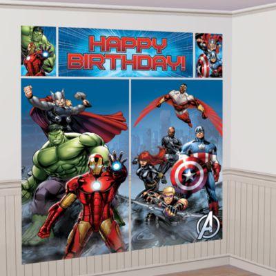 Avengers vægdekoration til festen