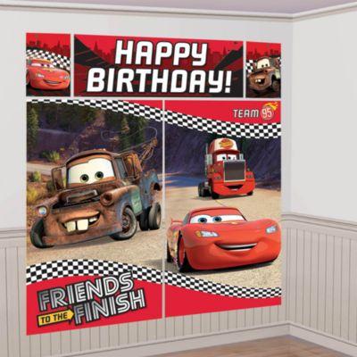 Disney Pixar Biler vægdekoration til festen