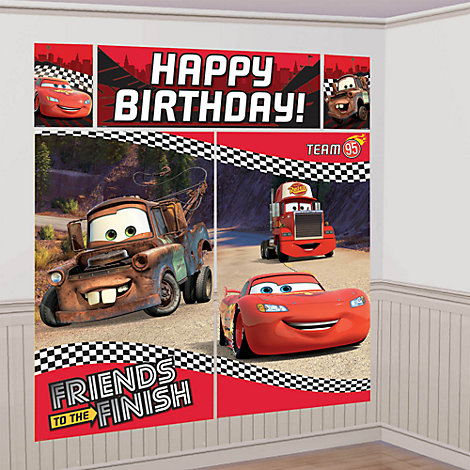 Disney Pixar Cars - Wanddekorationsset