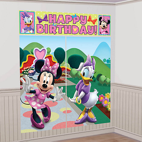 Minnie Mouse bagtæppe til festen