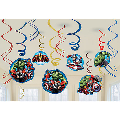 Avengers 6x Party Swirl Decorations