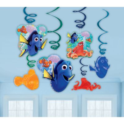 Finding Dory Party Swirl Decorations