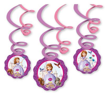 Décorations de fête tourbillonnantes Princesse Sofia