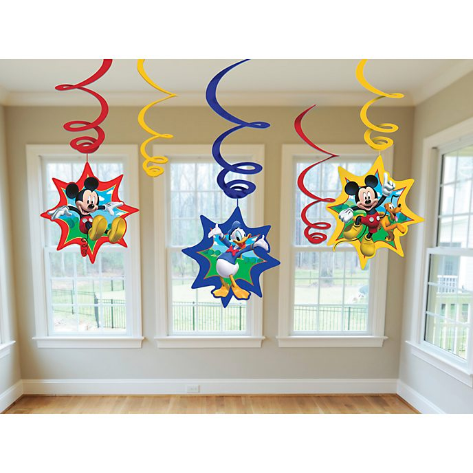 Disney Store Mickey Mouse Party Swirl Decorations