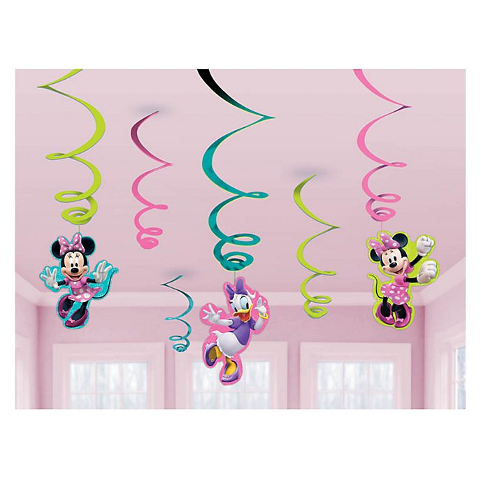 Disney Store Minnie Mouse Party Swirl Decorations