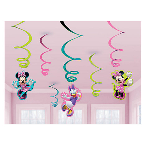 Minnie Mouse Party Swirl Decorations