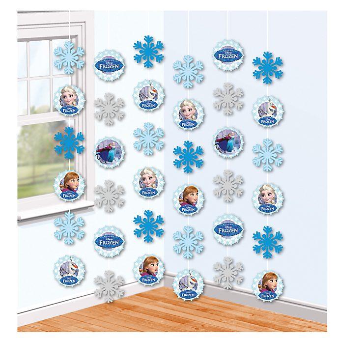 Disney Store Frozen - Il regno di ghiaccio, 6 decorazioni a filo per festa