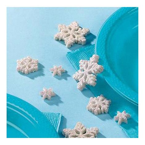Confettis de table flocons de neige La Reine des Neiges