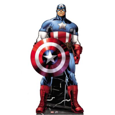 Udstanset Captain America figur