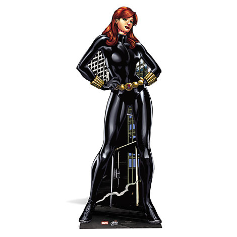 Black Widow Character Cut Out