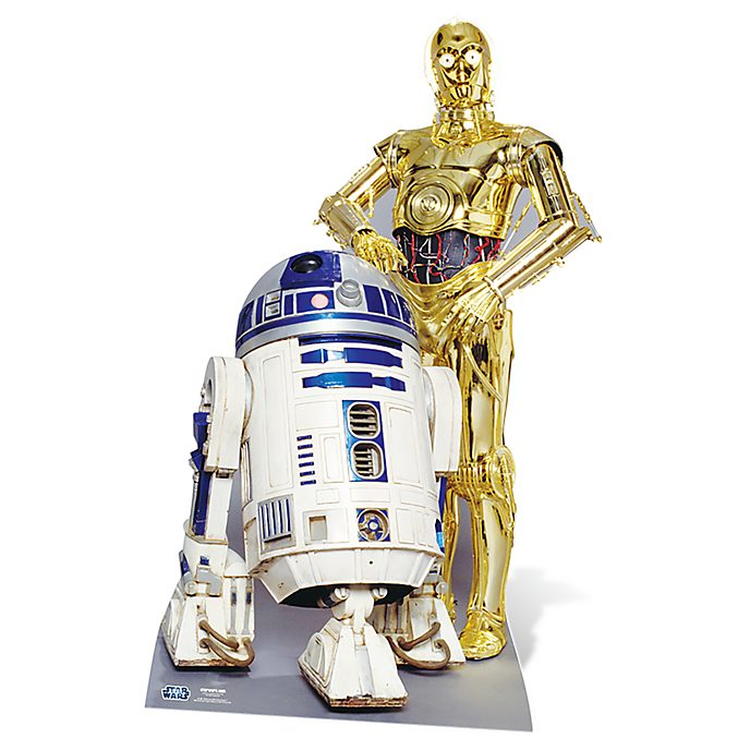 Disney Store R2-D2 and C-3PO Character Cut Out, Star Wars