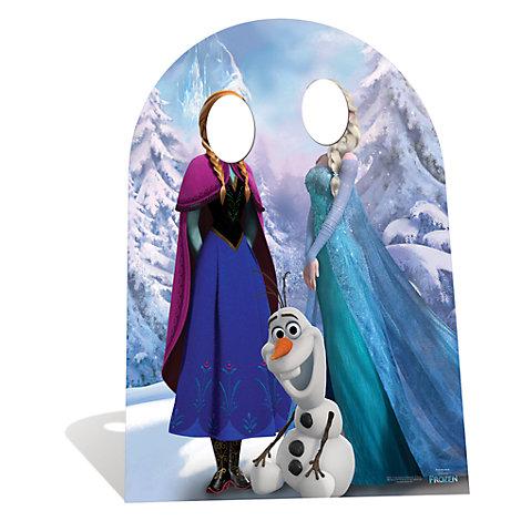 Silhouette La Reine des Neiges avec support