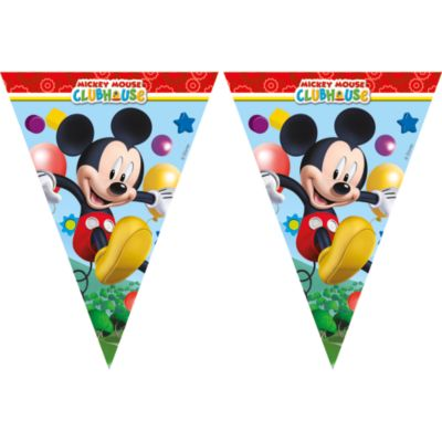 Cartel banderines Mickey Mouse