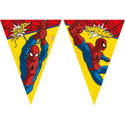 Cartel banderines Spider-Man