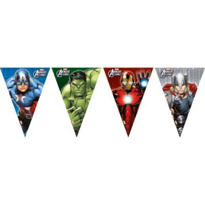 Cartel banderines Los Vengadores