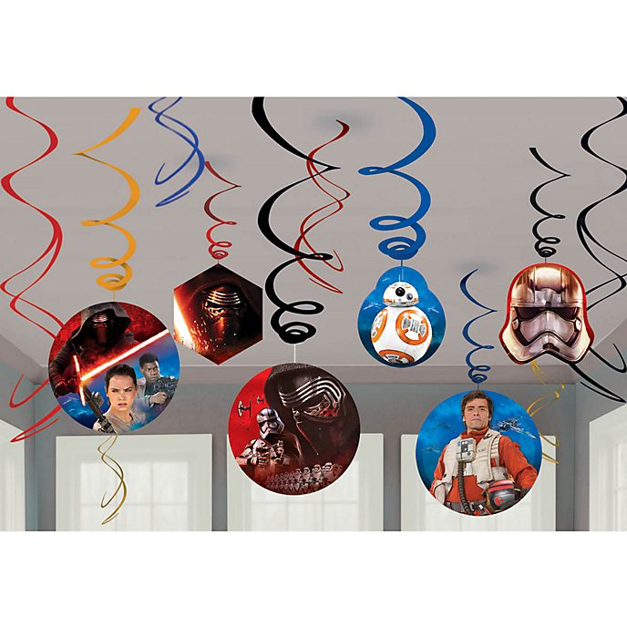 Disney Store Star Wars: The Force Awakens 6x Party Swirl Decorations