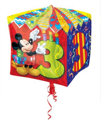 Globo de tercer cumpleaños de Mickey Mouse