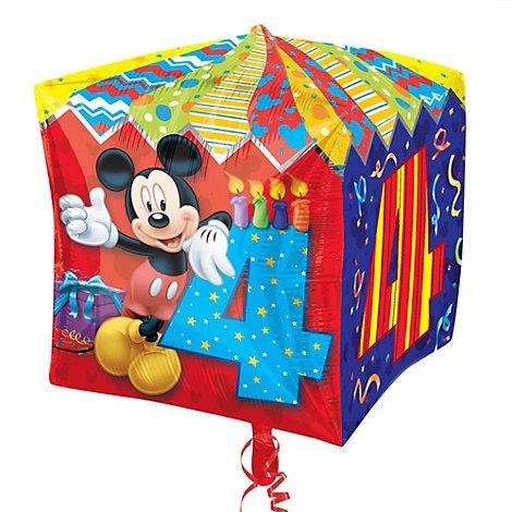 Globo de cuarto cumpleaños de Mickey Mouse