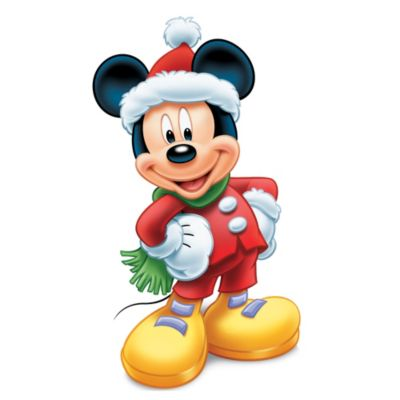 Mickey Mouse Christmas Character Cut Out