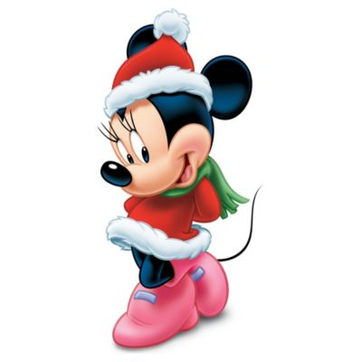 Minnie Mouse Christmas Character Cutout