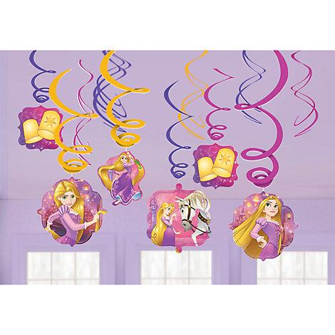 Paquet de 6 décorations de fête tourbillonnantes Raiponce