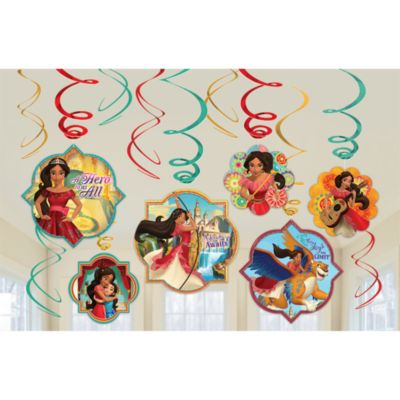 Elena of Avalor Party Swirl Decorations, Pack of 6