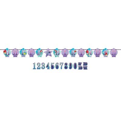 Den lille havfrue fødselsdagsbanner, kan personliggøres