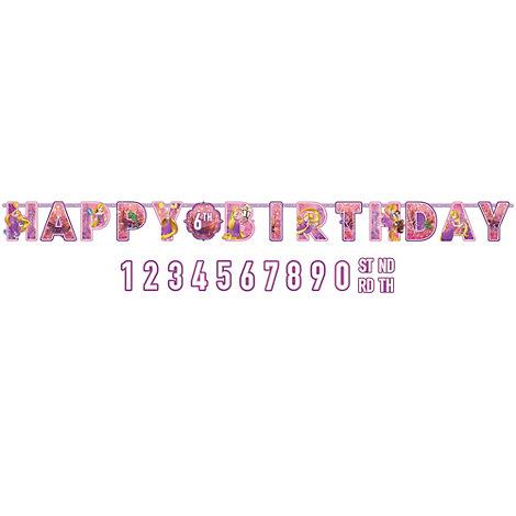 Cartel cumpleaños personalizado Rapunzel, Enredados