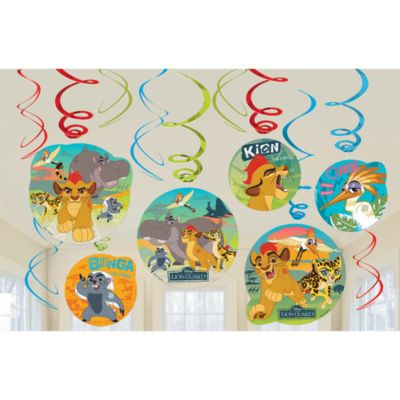 The Lion Guard Party Swirl Decorations, Pack of 6