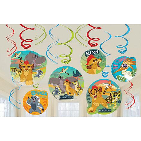 Paquet de 6 décorations de fête tourbillonnantesLa Garde du Roi Lion