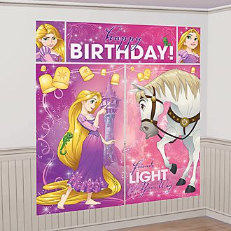 Decoración escena fiesta Rapunzel