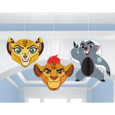 Die Garde der Löwen - Partydekorationen in Wabenform