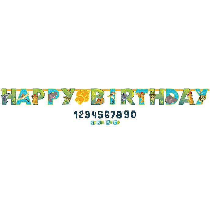 Cartel cumpleaños personalizado La Guardia del León