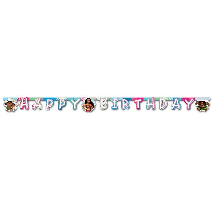 Cartel feliz cumpleaños Vaiana, Disney Store