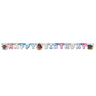 Moana Happy Birthday Banner