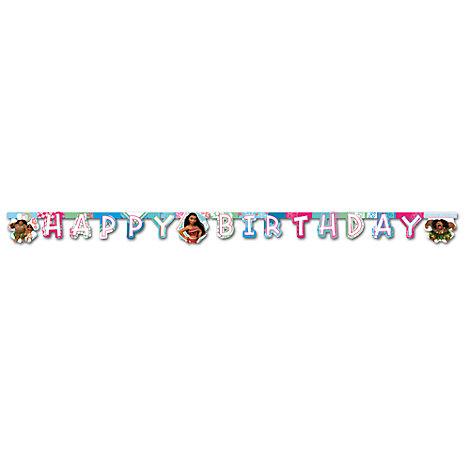 Moana Happy Birthday Banner