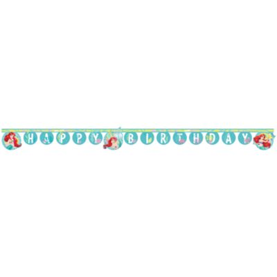 The Little Mermaid Happy Birthday Banner