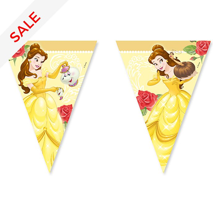 Disney Store Beauty and the Beast Flag Bunting