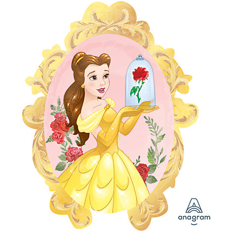 Ballon extra large Rose enchantée de Belle