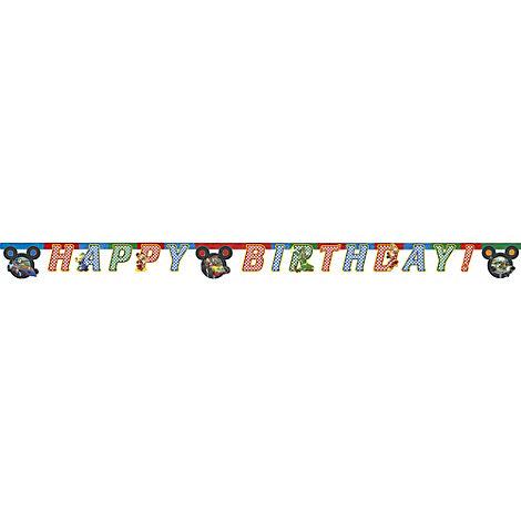 Musse och racergänget födelsedagsbanderoll