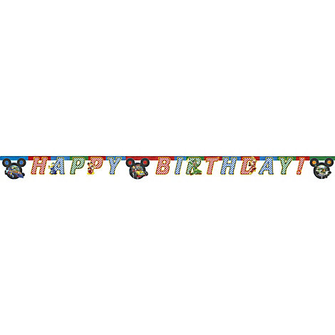 Mickey and the Roadster Racers Birthday Banner