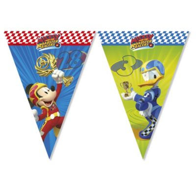 Cartel de banderines de Mickey y los Superpilotos
