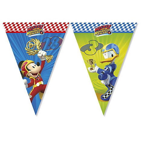 Mickey and the Roadster Racers Flag Bunting