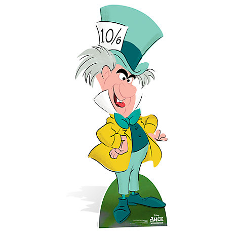 Alice im Wunderland - Charakter-Aufsteller des verrückten Hutmachers