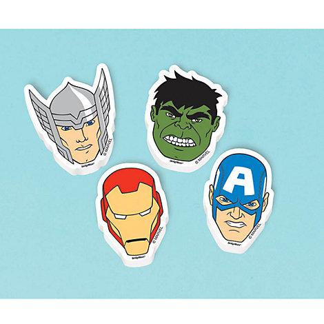 The Avengers - 12 x Radiergummis