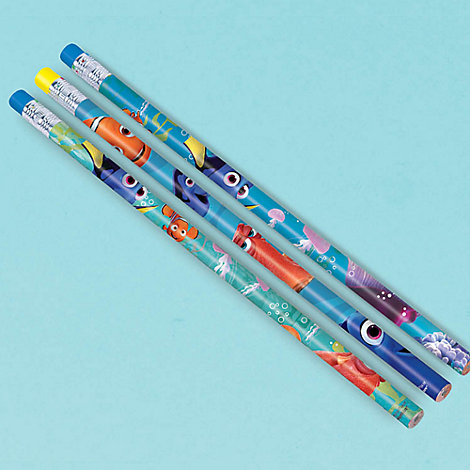 Lot de 12 crayons Le Monde de Dory