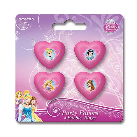 Lot de 4 bagues Princesses Disney