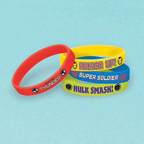 Avengers, 4 braccialetti in gomma