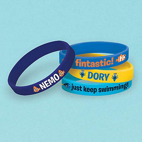 Lot de 4 bracelets en caoutchouc Le Monde de Dory