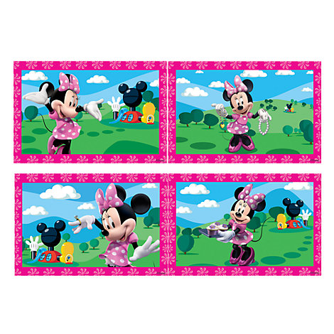 4 puzzles Minnie Mouse